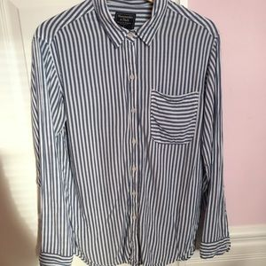 Abercrombie and Fitch striped drapey shirt